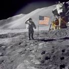Man walking on moon